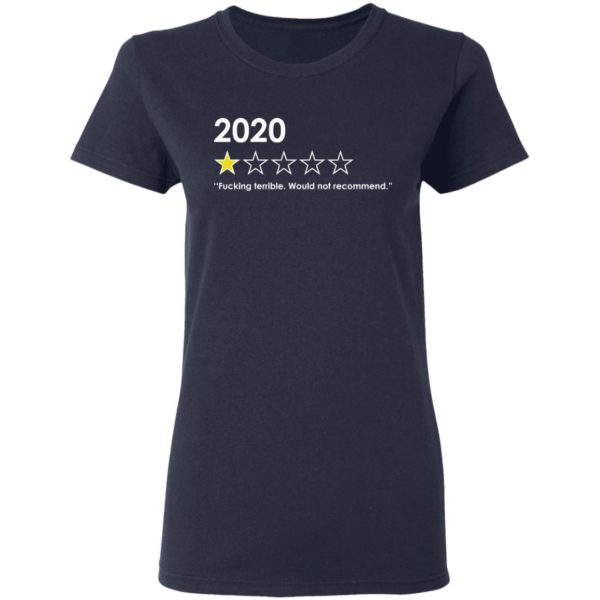 redirect 4763 600x600 - 2020 fucking terrible would not recommend shirt