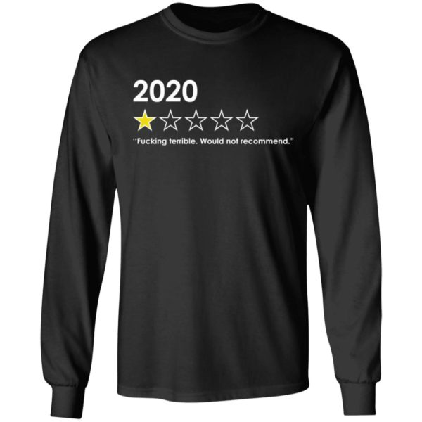 redirect 4764 600x600 - 2020 fucking terrible would not recommend shirt