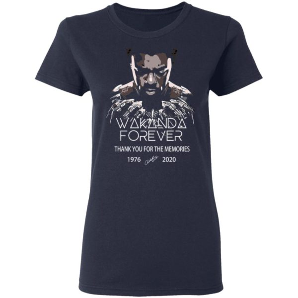 redirect 5043 600x600 - Wakanda forever thank you for the memories 1976-2020 shirt