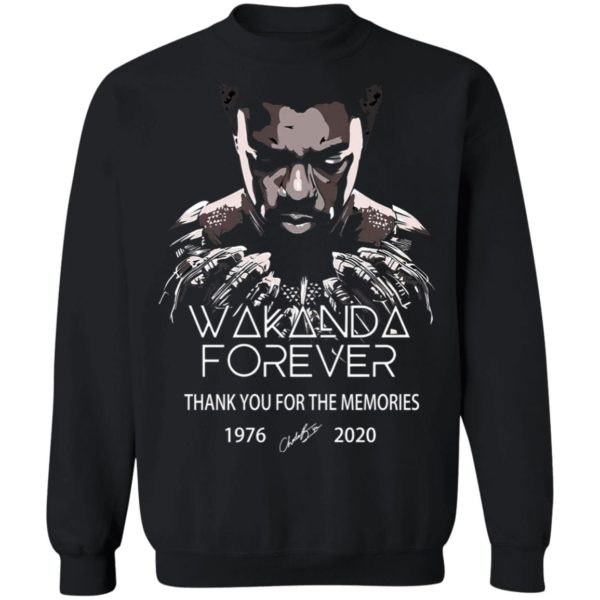 redirect 5048 600x600 - Wakanda forever thank you for the memories 1976-2020 shirt
