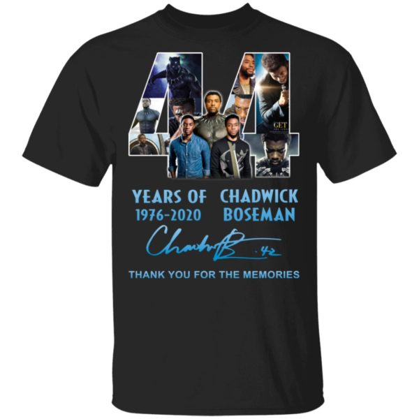 redirect 5261 600x600 - 44 years of 1976-2020 Chadwick Boseman thank you for the memories shirt