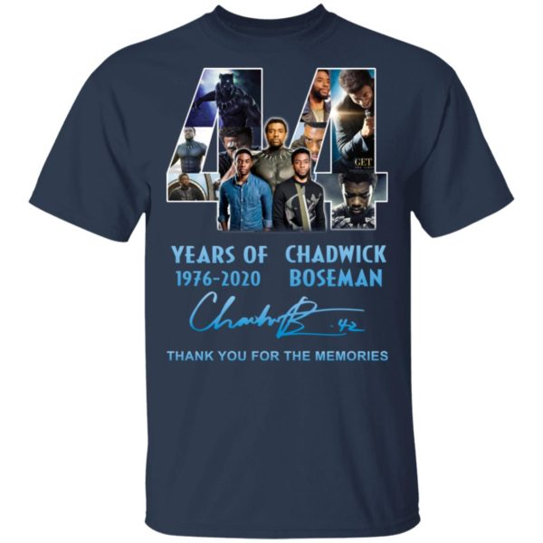 redirect 5262 600x600 - 44 years of 1976-2020 Chadwick Boseman thank you for the memories shirt
