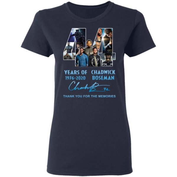 redirect 5264 600x600 - 44 years of 1976-2020 Chadwick Boseman thank you for the memories shirt