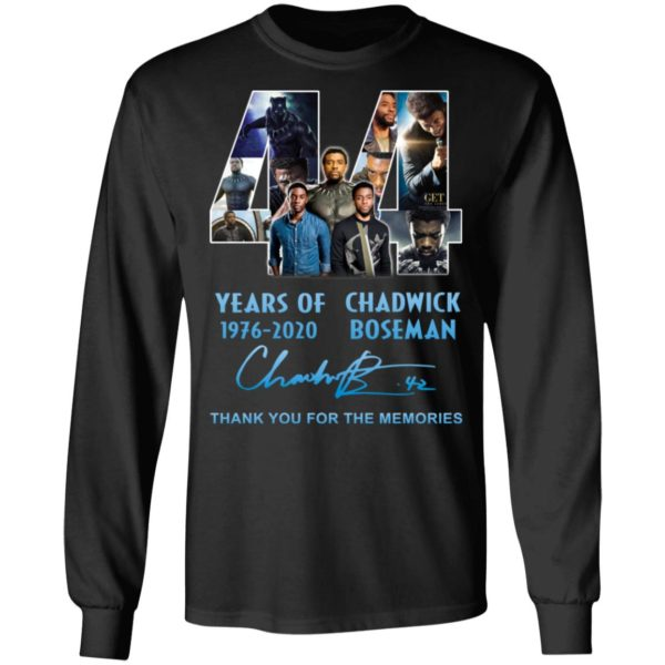 redirect 5265 600x600 - 44 years of 1976-2020 Chadwick Boseman thank you for the memories shirt