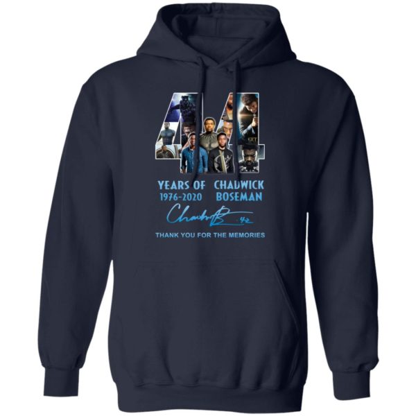 redirect 5268 600x600 - 44 years of 1976-2020 Chadwick Boseman thank you for the memories shirt