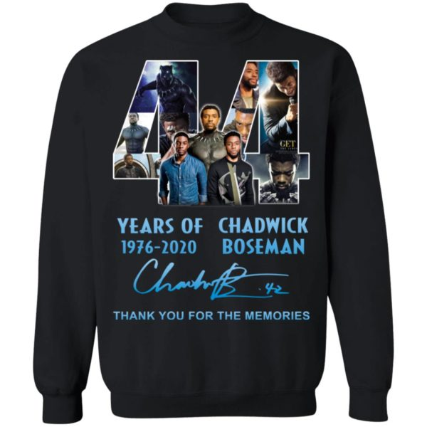 redirect 5269 600x600 - 44 years of 1976-2020 Chadwick Boseman thank you for the memories shirt