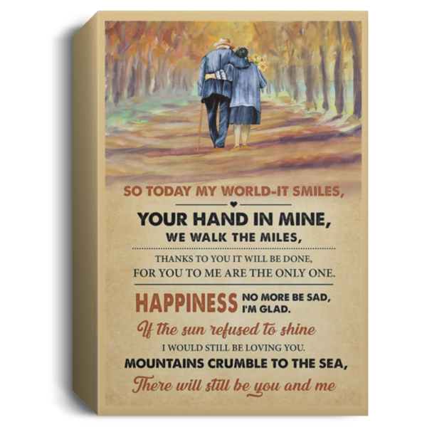 redirect 558 600x600 - So today my world it smiles your hand in mine we walk the miles poster