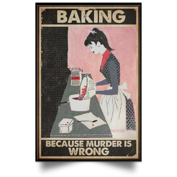redirect 69 600x600 - Baking because murder is wrong poster