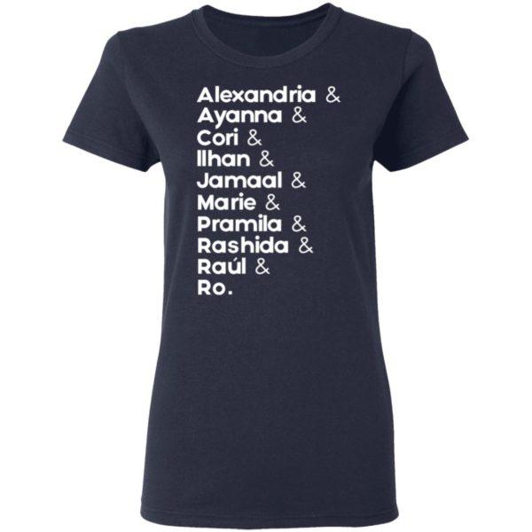 redirect 693 600x600 - Alexandria and Ayanna and Cori and Ilhan and Jamaal and Marie and Pramila shirt