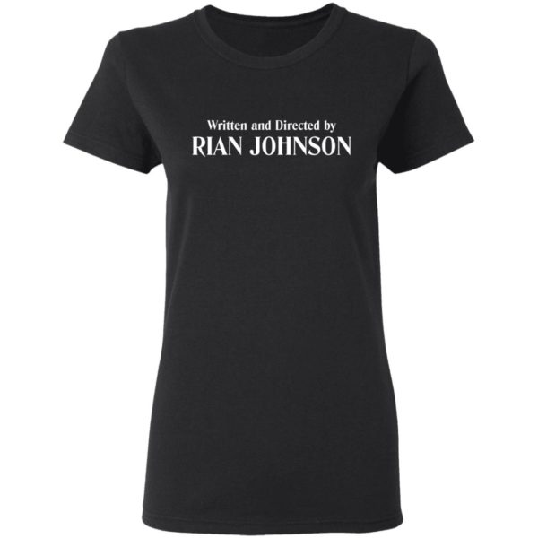 redirect 943 600x600 - Written and directed by Rian Johnson shirt