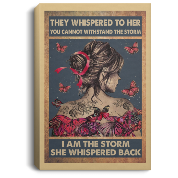 redirect 114 600x600 - Butterfly they whispered to her you cannot withstand the storm poster
