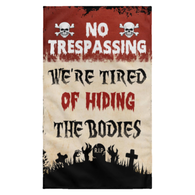 redirect 19 400x400 - Personalized No Trespassing We're Tired Halloween flag