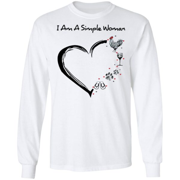 redirect 2900 600x600 - I am a simple woman I like chicken wine dog and flip flop shirt