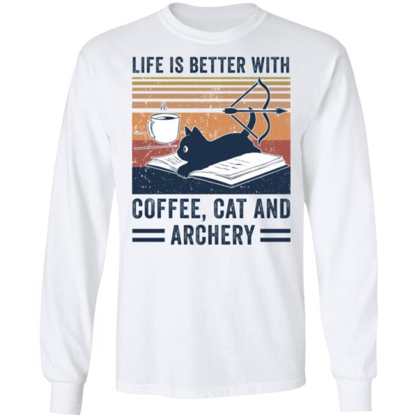 redirect 2980 600x600 - Black cat life is better with coffee cat and archery vintage shirt