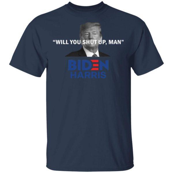 redirect 4817 600x600 - Trump will you shut up man Biden Harris shirt