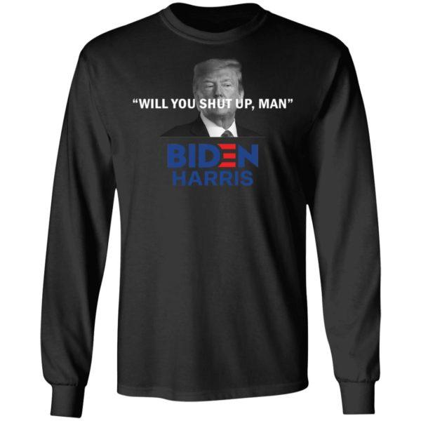 redirect 4820 600x600 - Trump will you shut up man Biden Harris shirt