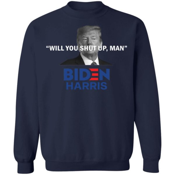 redirect 4825 600x600 - Trump will you shut up man Biden Harris shirt