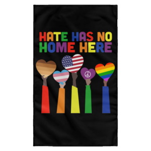 redirect 7 300x300 - Pride Rainbow Hate has no home here wall flag