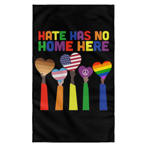 redirect 7 600x600 - Pride Rainbow Hate has no home here wall flag