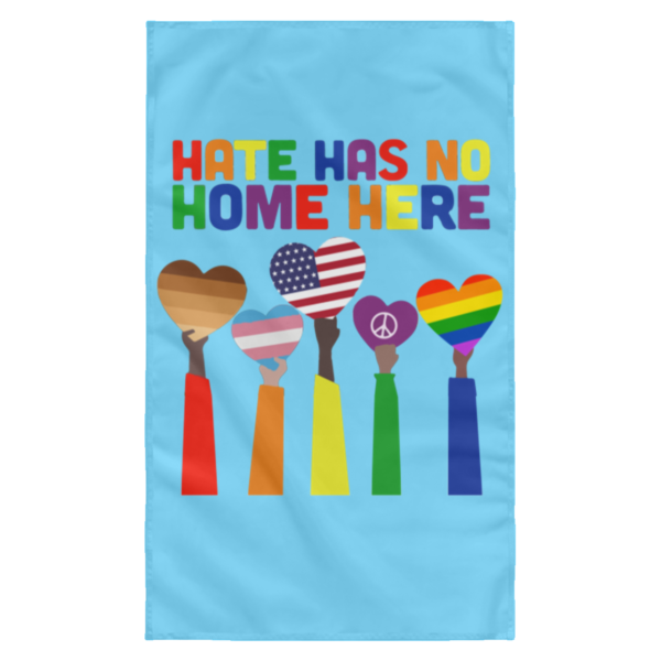 redirect 8 600x600 - Pride Rainbow Hate has no home here wall flag