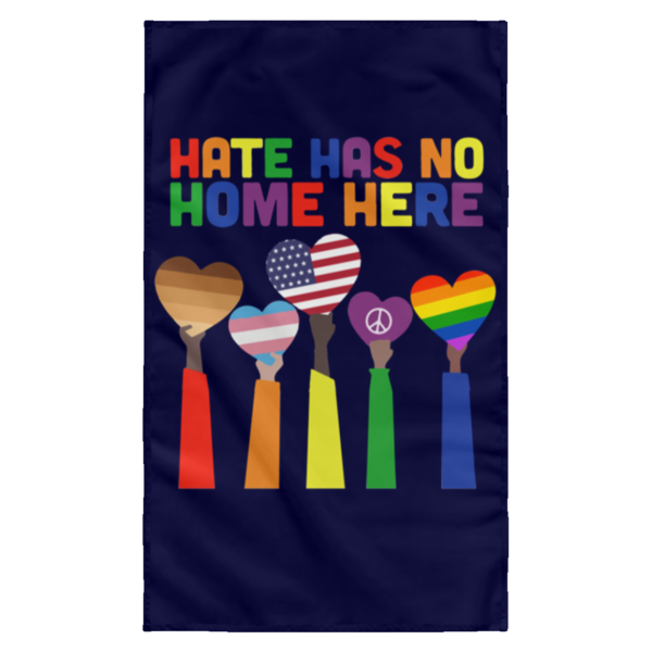 redirect 9 600x600 - Pride Rainbow Hate has no home here wall flag
