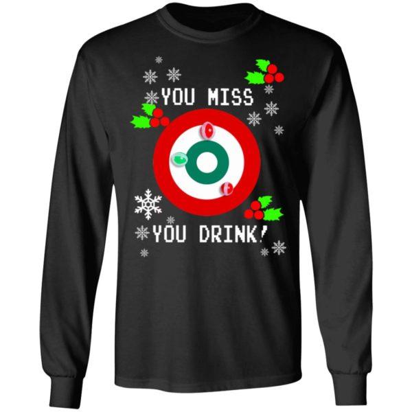 redirect 1286 600x600 - You miss you drink Christmas sweatshirt