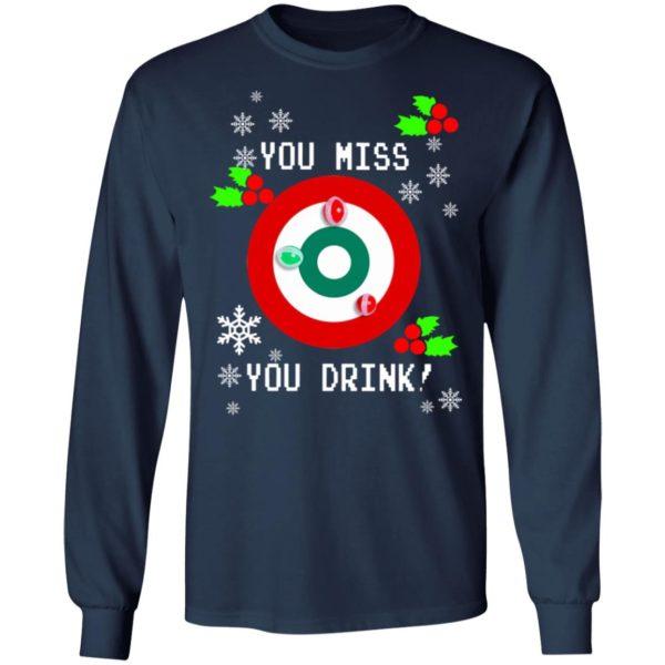 redirect 1288 600x600 - You miss you drink Christmas sweatshirt