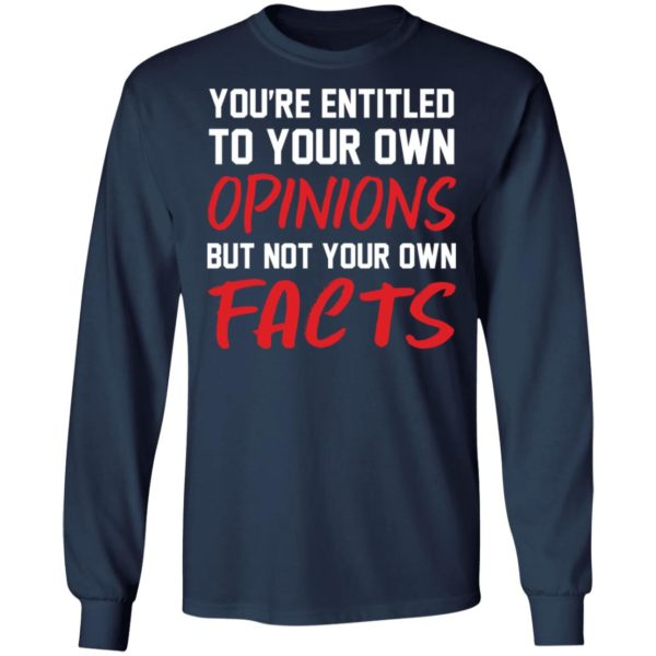 redirect 1393 600x600 - You're entitled to your own opinions but not your own facts shirt