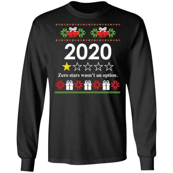 redirect 4814 600x600 - 2020 Zero stars wasn't an option Christmas sweatshirt