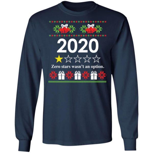 redirect 4816 600x600 - 2020 Zero stars wasn't an option Christmas sweatshirt