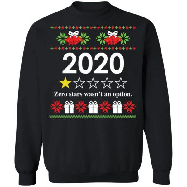 redirect 4819 600x600 - 2020 Zero stars wasn't an option Christmas sweatshirt