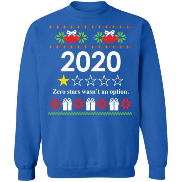 redirect 4821 600x600 - 2020 Zero stars wasn't an option Christmas sweatshirt