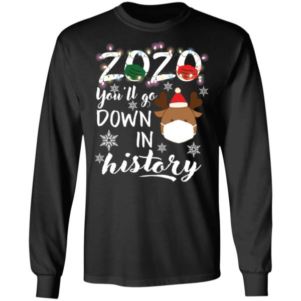 redirect 5110 600x600 - 2020 you'll go down in history Christmas sweatshirt