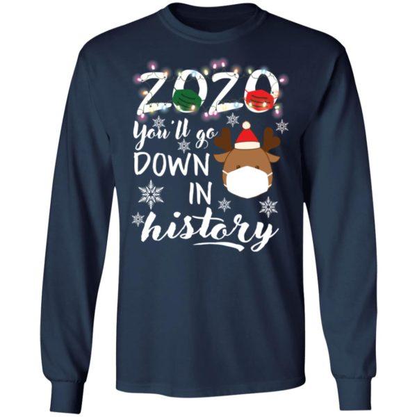 redirect 5112 600x600 - 2020 you'll go down in history Christmas sweatshirt