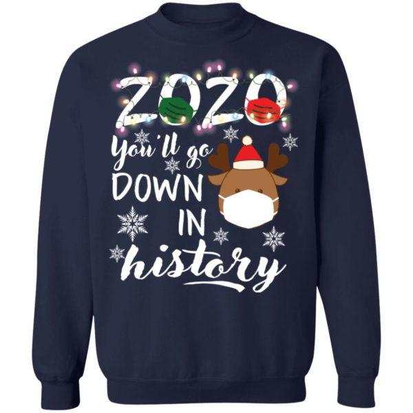 redirect 5116 600x600 - 2020 you'll go down in history Christmas sweatshirt