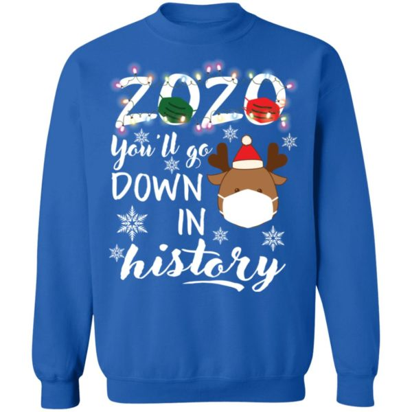 redirect 5118 600x600 - 2020 you'll go down in history Christmas sweatshirt