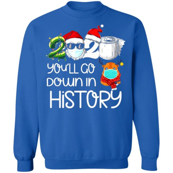 redirect 5626 600x600 - 2020 you'll go down in history Christmas sweatshirt
