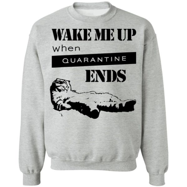 redirect11242020041125 6 600x600 - Tired cat says wake me up when quarantine ends shirt
