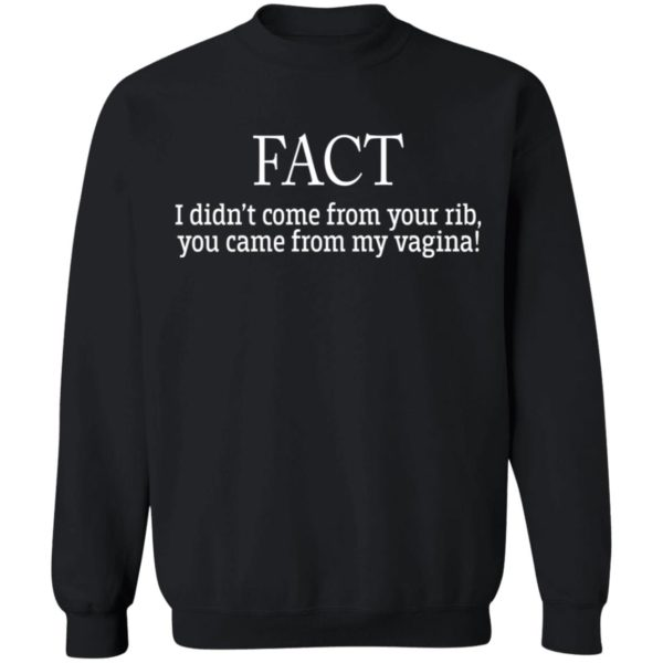 redirect01212021210156 8 600x600 - I didn't come from your rib you came from my vagina shirt