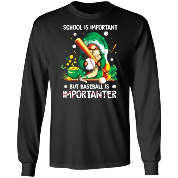 redirect02202021020204 1 600x600 - Gnomes school is important but baseball is importanter shirt