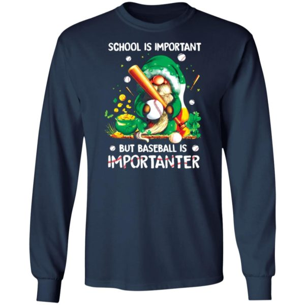 redirect02202021020204 2 600x600 - Gnomes school is important but baseball is importanter shirt