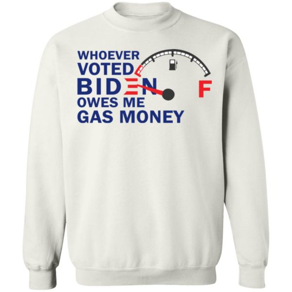 redirect07272021080718 9 600x600 - Whoever voted Biden owes me gas money shirt