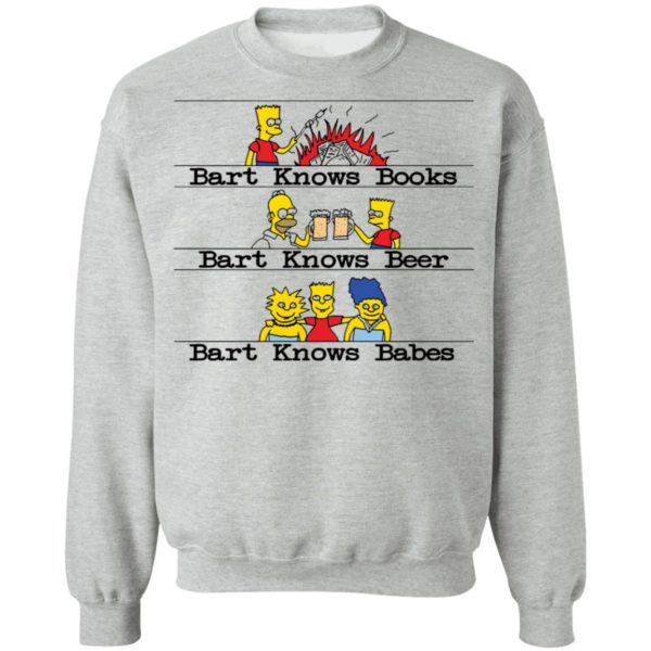 redirect07292021040706 8 600x600 - Bart knows books Bart knows beer Bart knows babes shirt