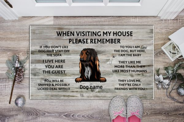 JSAZ7yhL7 ibJXsuzKc ffffff 1 600x400 - Gift for Dog lovers When visiting my house please remember personalized doormat